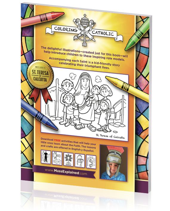 Catholic Coloring Book Back